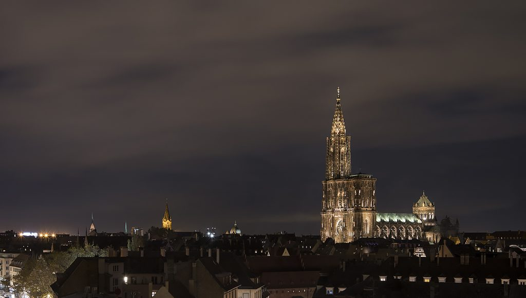 The enlighted cathedral of Strasbourg
