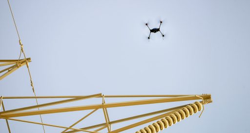 Drones used to inspect high voltage power lines