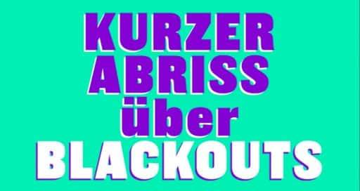 Ein kurzer Abriss über Blackouts und sonstige Stromausfälle von grösserem Ausmass