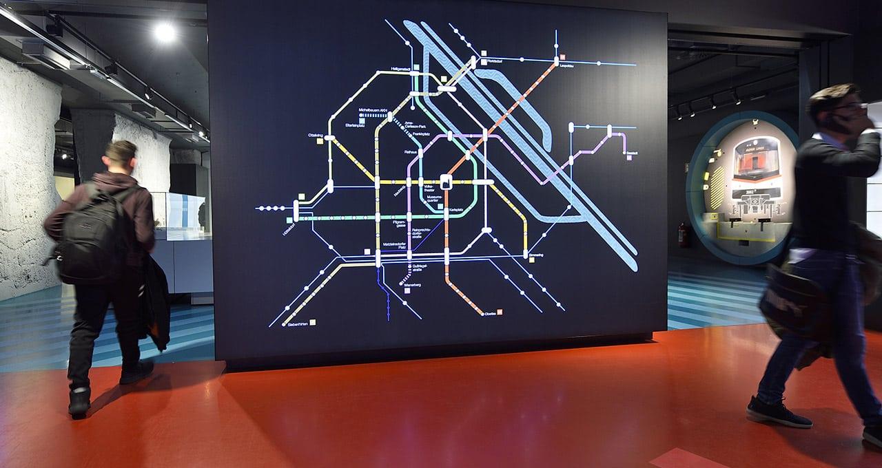 Acompanhar a modernização do metrô de Viena