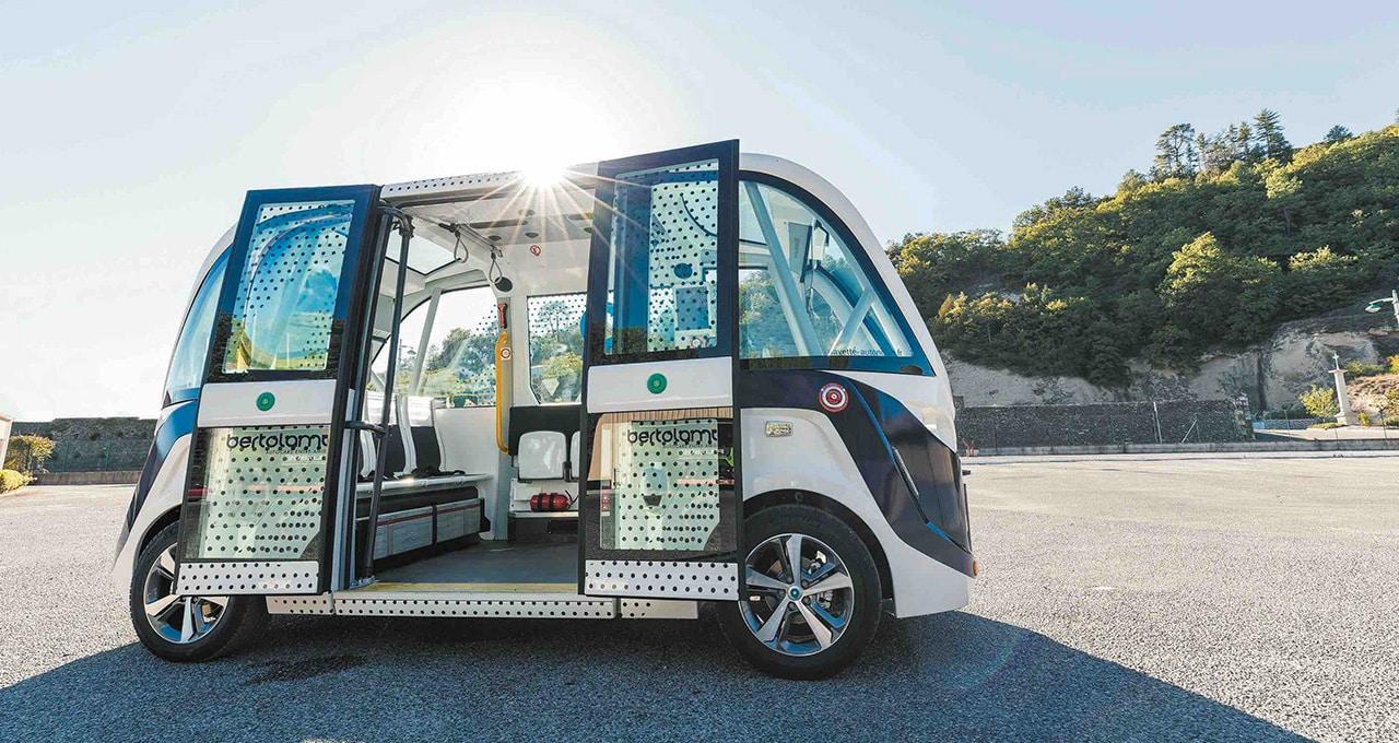 Den självkörande minibussen, en mobilitetslösning på landsbygden